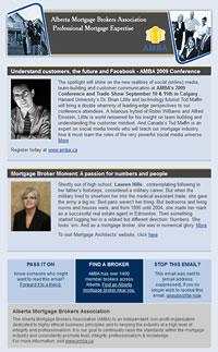 Alberta Mortgage Brokers' Association email template