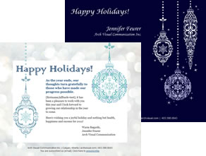 Christmas-themed email template