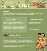 Shanghai Girl email template