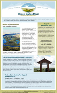 Western Sky Land Trust email template